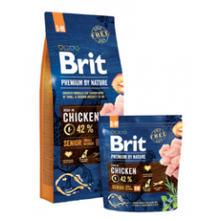 Brit Premium by Nature dog Senior S+ M 15 kg