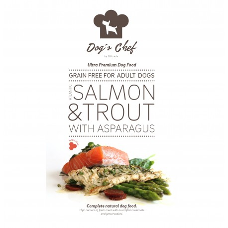 DOG'S CHEF Atlantic Salmon & Trout with Asparagus 15 kg