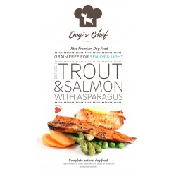 DOG'S CHEF Diet Loch Trout SENIOR & LIGHT 15 kg