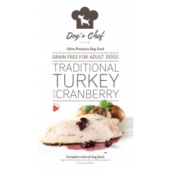 DOG'S CHEF Traditional Turkey with Cranberry 15 kg