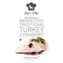 DOG'S CHEF Traditional Turkey with Cranberry for LARGE B 15 kg