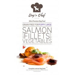 DOG'S CHEF Wild Salmon for LARGE BREED PUPPIES 15 kg