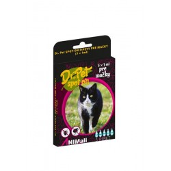 Dr.Pet spot-on pipety pre mačky 5 x 1 ml