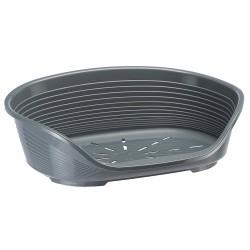 Ferplast Siesta Deluxe 12 plastové ležadlo šedé