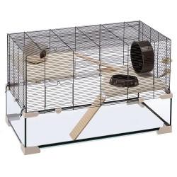 Ferplast sklenená klietka pre škrečky a myši Karat 80