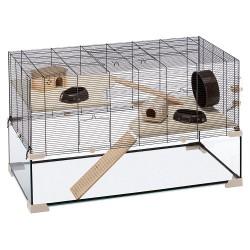 Ferplast sklenená klietka pre škrečky a myši Karat 100