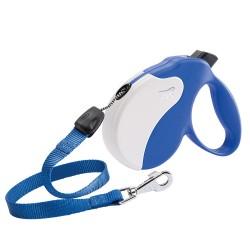 Ferplast Amigo M 5 m modrá samonavíjacia vôdzka pre psy do 25 kg s lankom