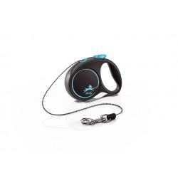 FLEXI Black Design XS 3 m modrá samonavíjacia vôdzka pre psy do 8 kg s lankom