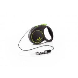 FLEXI Black Design XS 3 m zelená samonavíjacia vôdzka pre psy do 8 kg s lankom