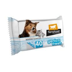 Ferplast Genico Fresh čistiace utierky pre psy a mačky s vôňou mora 40 ks