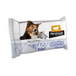 Ferplast Genico Fresh čistiace utierky pre psy a mačky s vôňou púdra 40 ks