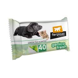Ferplast Genico Fresh čistiace utierky pre psy a mačky s vôňou zelený čaj 40 ks