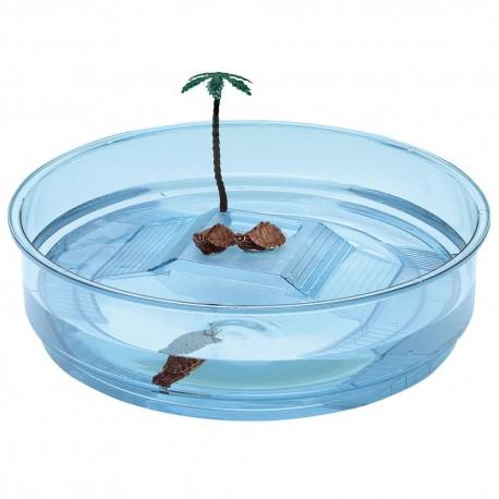 Ferplast Turtle Oasi plastová nádrž pre korytnačky s ostrovčekom