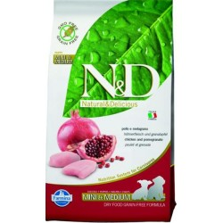 Farmina N&D dog GF puppy small&medium chicken&pomegranate 7 kg