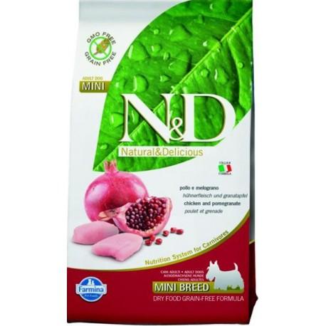 Farmina N&D dog GF adult mini chicken&pomegranate 0,8 kg