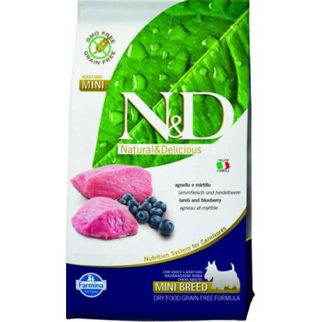 Farmina N&D dog GF adult mini lamb&blueberry 0,8 kg