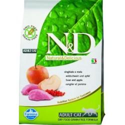Farmina N&D cat GF adult boar&apple 0,3 kg