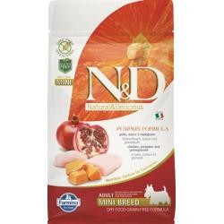 Farmina N&D dog GF PUMPKIN adult mini chicken&pomegranate 0,8 kg